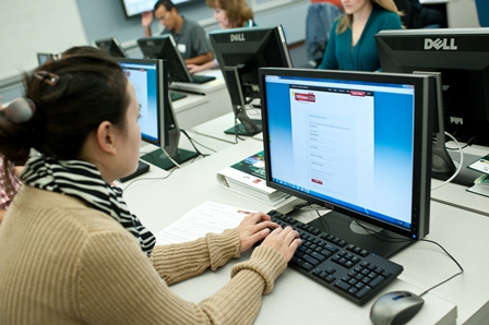 A teacher registers on IWitness, gaining access to more than 1,300 testimonies and learning activities for students.