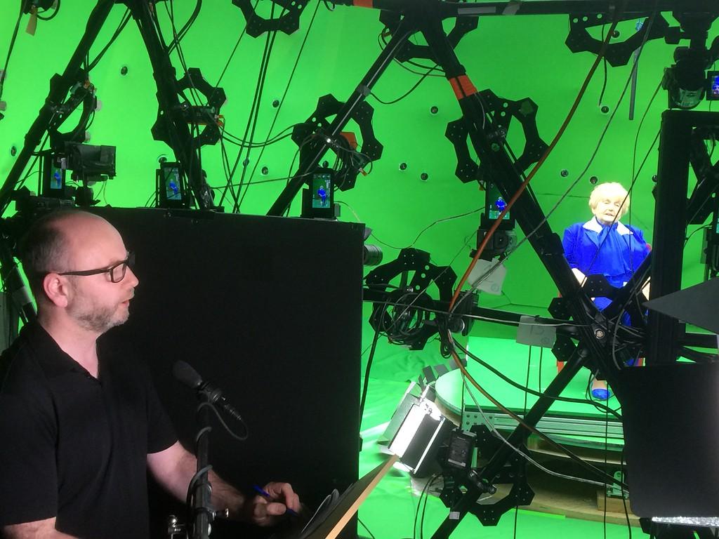 Executive director Stephen Smith interviewing Eva Kor