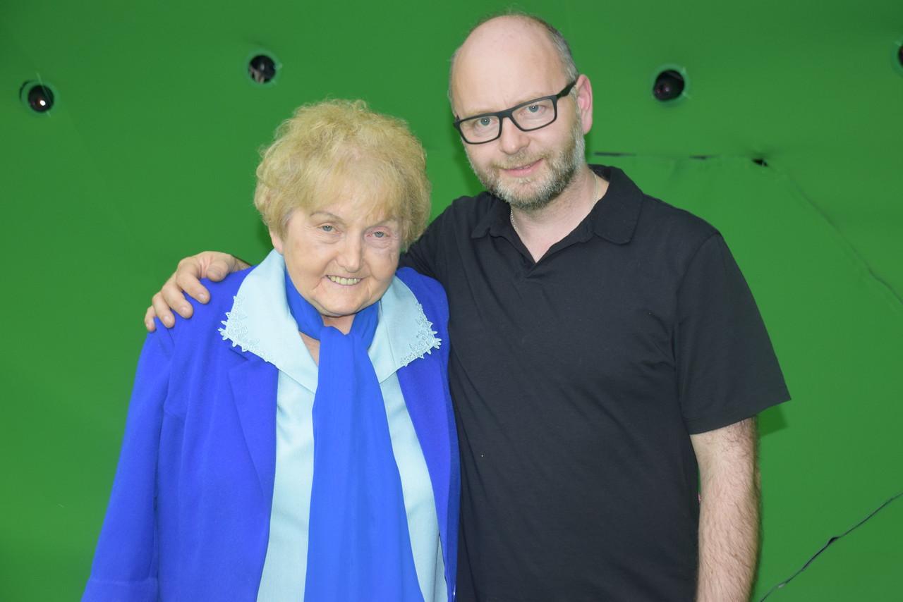 Eva Kor with executive director Stephen Smith
