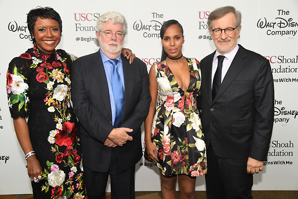 Mellody Hobson, George Lucas, Kerry Washington and Steven Spielberg