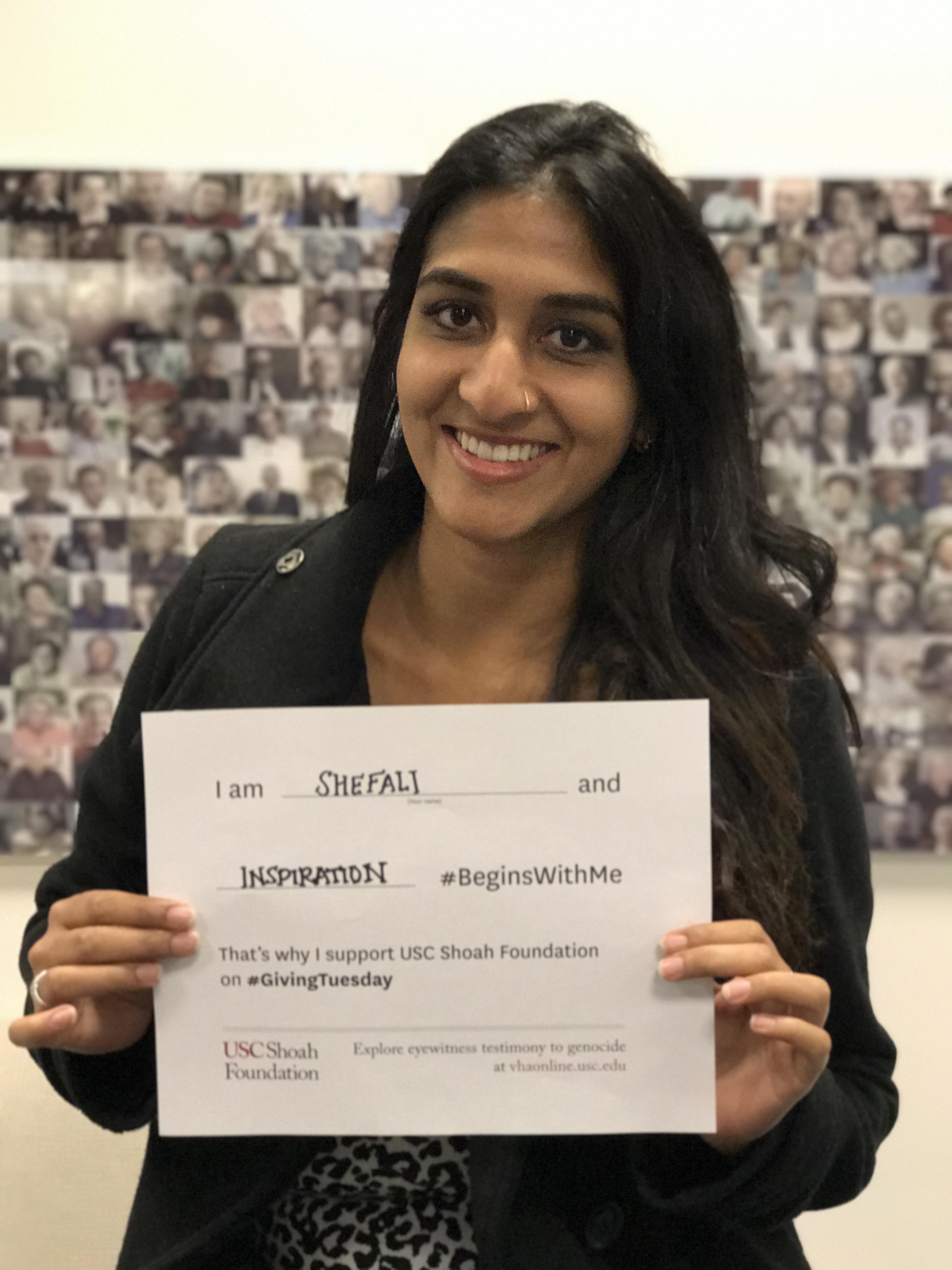Shefali Deshpande - Inspiration #BeginsWithMe