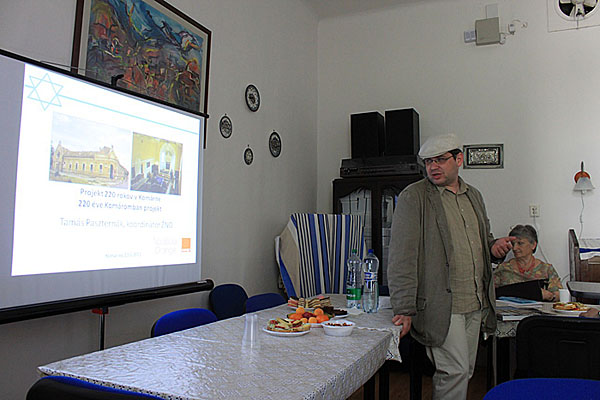 Tamás Paszternak of Komárno Jewish Community discusses goals of the 200 Years in Komárno project.