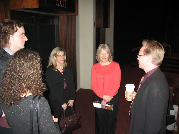 From left to right:  Crispin Brooks and his wife, Yelena Brooks; Kim Simon, Institute Interim Executive Director; Victoria Bondar, Film Producer; and Shapell-Guerin Chair in Jewish Studies and USC History Professor, Wolf Gruner.