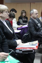 Seminar participants (left to right):  Svitlana Korotun, Larysa Kovtun, Zhanna Hudko, Iryna Samokhval, and Dmytro Desyatov.