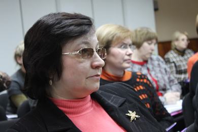 Seminar participants (left to right):  Svitlana Kosarenko, Svitlana Bushyna, Svitlana Voznyak, and Tetyana Bondarenko.