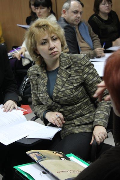 Seminar participants (left to right):  Oleksandra Kozoroh, Dmytro Desyatov, Zhanna Hudko, and Tetyana Lymar.