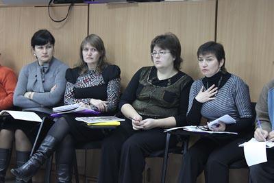 Seminar participants (left to right):  Larysa Kovtun, Tetyana Lymar, Iryna Samokhval, and Zhanna Hudko.