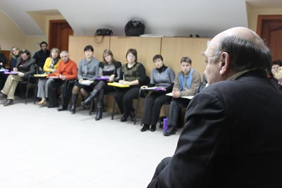 Holodomor historian Stanislav Kulchitsky delivers lecture on the Ukrainian Famine.