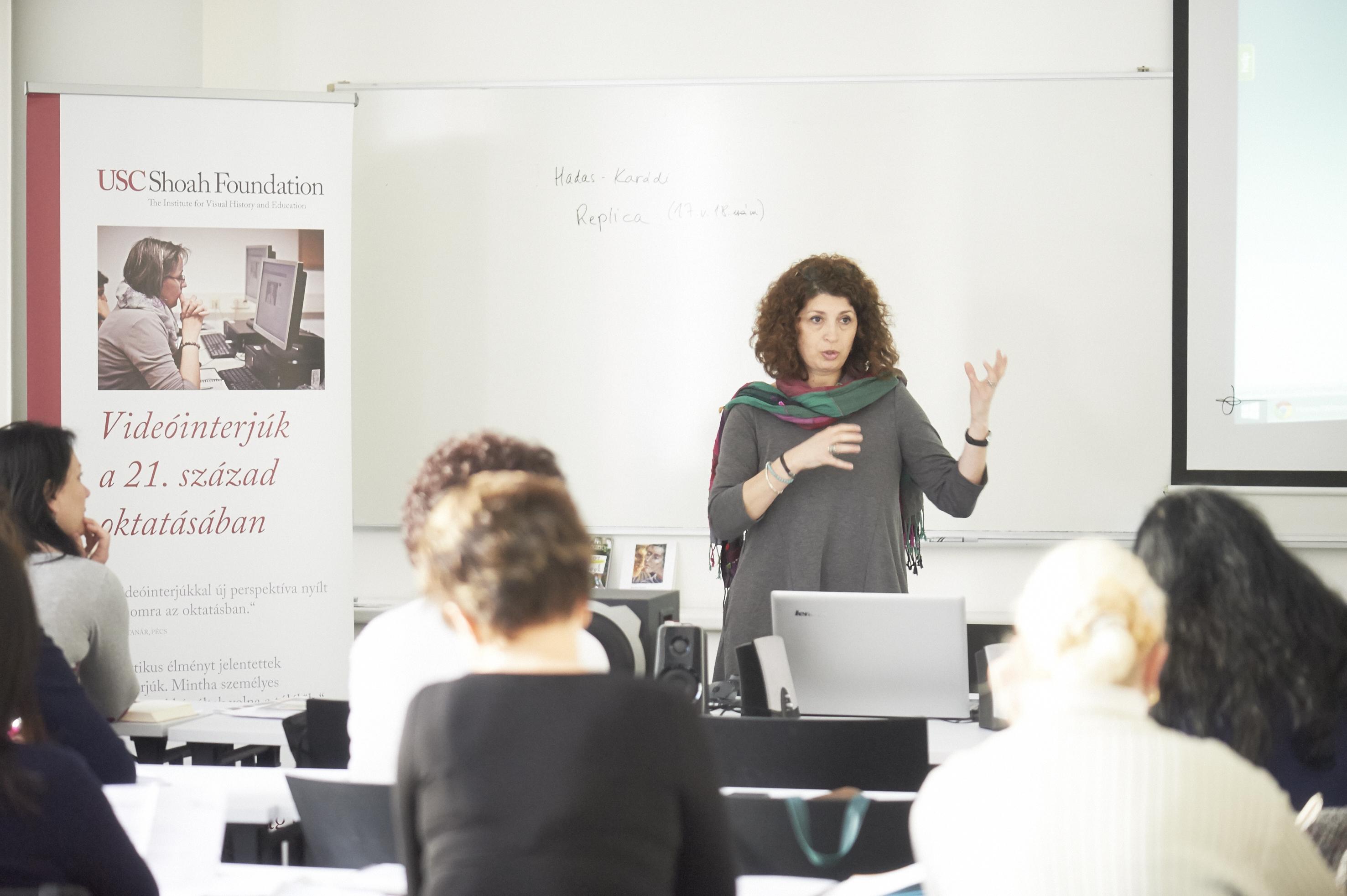 Andrea Szonyi at the IWitness Educator training