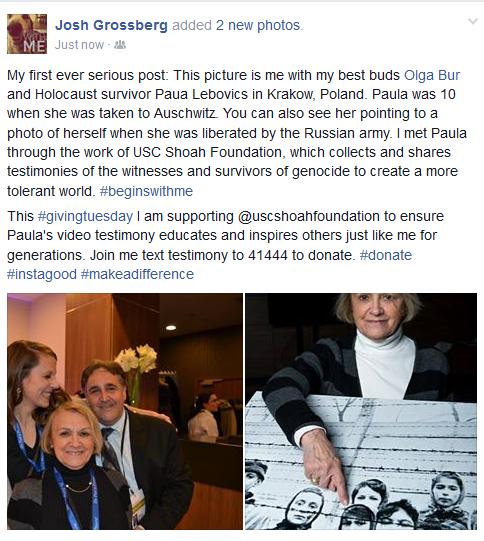 Josh shares how a unique friendship with a Holocaust survivor has impacted his life.