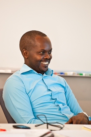 Appolon Gahongayire, an educator for the Kigali Genocide Memorial Centre in Kigali, Rwanda.