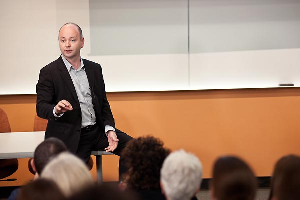 Stephen D. Smith, Executive Director of the USC Shoah Foundation Institute, addressing participants.