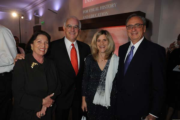 From left:  Erna Viterbi, Stephen Cozen, Kim Simon, and Mickey Shapiro.