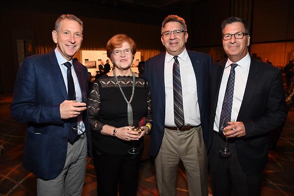 Dr. Deborah Lipstadt with Russ Krasnoff, Stuart Zall and Gary Foster