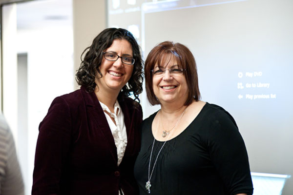 Sherry Bard, Institute Educational Programs Project Director; and Morgan Blum, Director of Education, JFCS Holocaust Center.