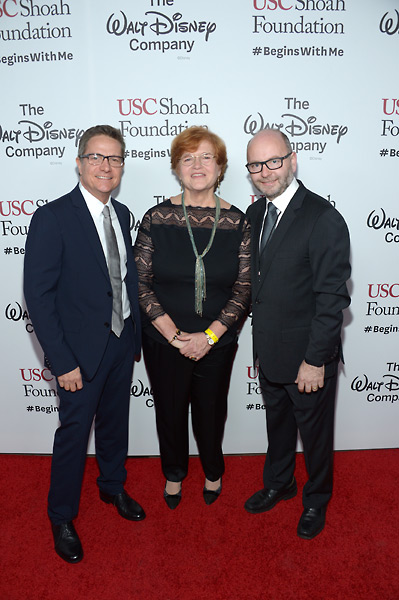 James Moll, Dr. Deborah Lipstadt and executive director Stephen Smith