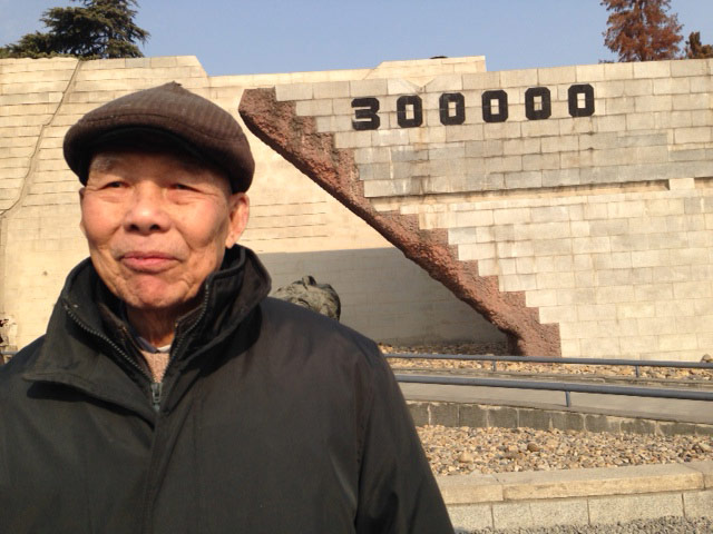 Mr. Lee, one of the survivors of the Nanjing Massacre