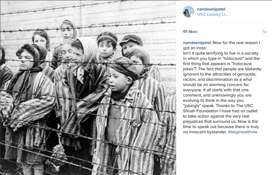 High school student Nadeen, shares how she combats Holocaust denial.
