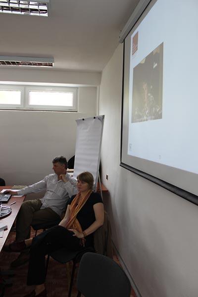 Nitra seminar:  PhDr. Monika Vrzguĺová, DSH, and PaedDr. Štefan Dragúň, MPC.