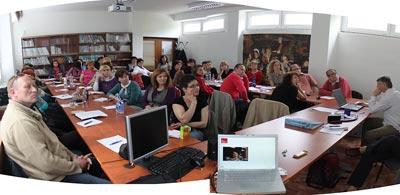 Teacher seminar in Nitra, Slovakia, April 27, 2010.