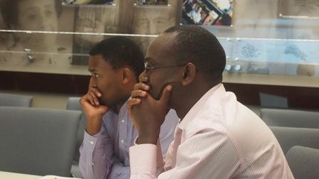 Yves Kamuronsi (left) and Paul Rukesha