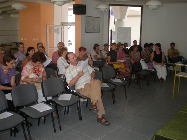 More than 40 teachers attended a training session organized by the Croatian Education and Teacher Training Agency in Split, Croatia, on September 2, 2009.