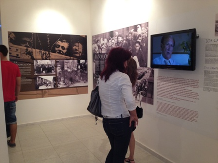 "Inside the Exhibit, ""We Remember:  The Holocaust and the Creation of a Living Community,"" which includes testimonies from the USC Shoah Foundation Institute's archive."