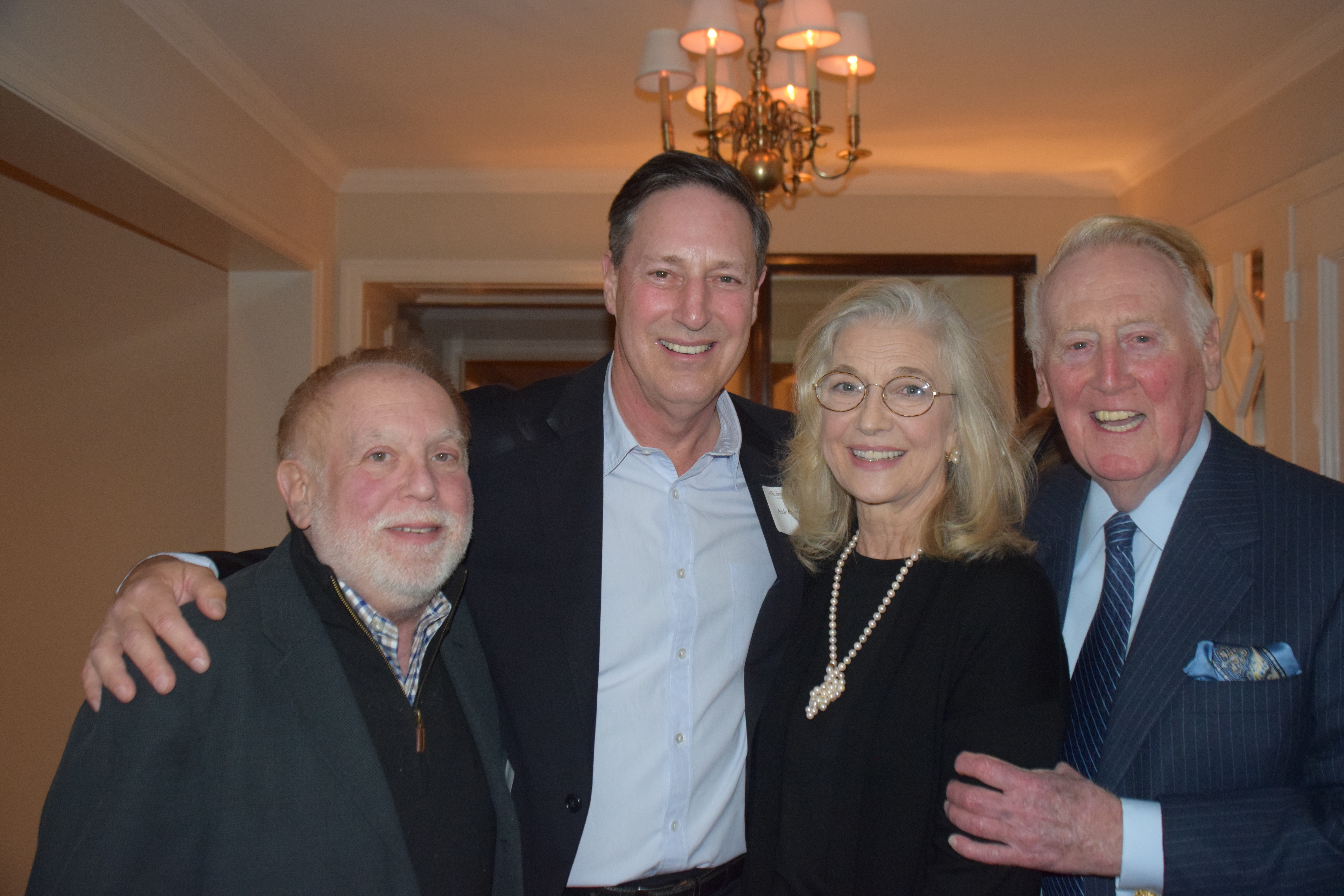 Ken Ehrlich, Andy Friendly, and Sandra & Vin Scully