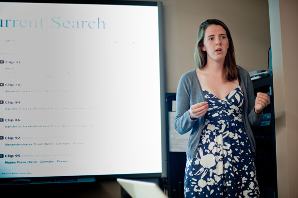 Margo Smith, a mathematics major at Kenyon College, discusses the results of their research.
