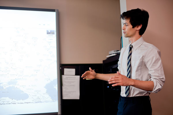 Peter Sugihara, a mathematics and computer science major from Bard College (transferring to Columbia University this academic year), discusses the results of their research.