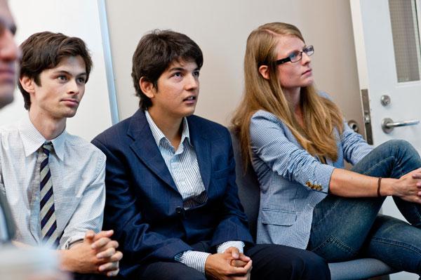 Left to right:  Peter Sugihara, Rodrigo Mendoza Smith, and Anna Kuznetsova.