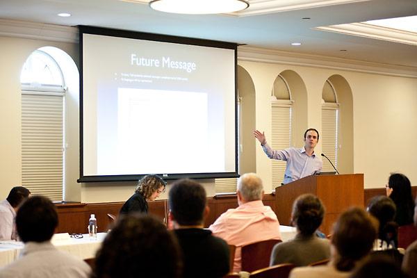 USC Shoah staff member Dan Leshem discusses the Future Message segment of the testimonies in the archive.