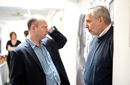 From left:  Stephen D. Smith, USC Shoah Foundation Institute Executive Director; and Arnold Kramer, Senior Advisor for Institutional Projects, United States Holocaust Memorial Museum.