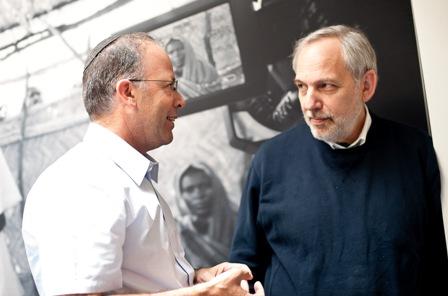 From left:  Haim Gertner, Director of the Archives, Yad Vashem; and Arnold Kramer, Senior Advisor for Institutional Projects, United States Holocaust Memorial Museum.