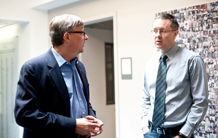 From left:  Joe Kraus, Chief Information Officer, United States Holocaust Memorial Museum; and Neal Guthrie, Director of Oral History, United States Holocaust Memorial Museum.