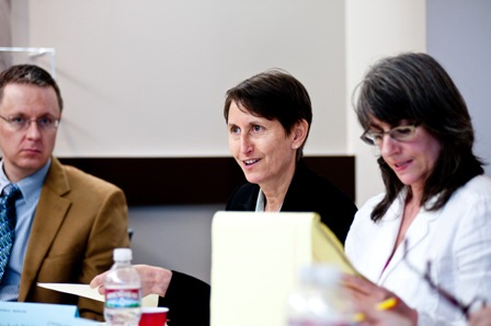 From left:  Neal Guthrie, Director of Oral History, United States Holocaust Memorial Museum; Elizabeth Edelstein, Director of Education, Museum of Jewish Heritage–A Living Memorial to the Holocaust; and Abby Spilka, Director of Communications, Museum of Jewish Heritage–A Living Memorial to the Holocaust.
