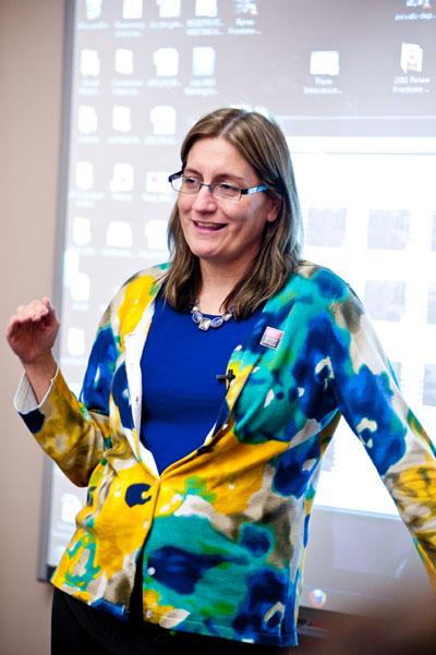 Sheila Hansen, Institute's Senior Trainer/Content Specialist.