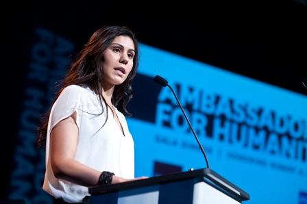 Mariana Aguilar, a USC Shoah Foundation Institute student-intern.