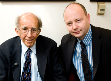 From left:  Dr. J. Michael Hagopian; and Stephen Smith, USC Shoah Foundation Institute Executive Director.