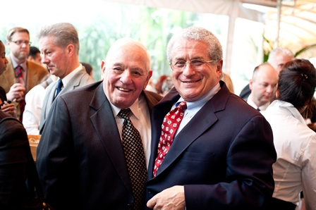 George Weiss (left), a survivor of the Holocaust and longtime volunteer at the USC Shoah Foundation Institute; and Douglas Greenberg, former Executive Director of the USC Shoah Foundation Institute and current Executive Dean of the School of Arts and Sciences, Rutgers University.
