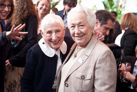 Leah Adler, mother of Steven Spielberg; and Renée Firestone, Holocaust survivor and educator.