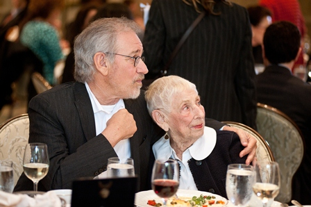 Steven Spielberg; and his mother, Leah Adler.