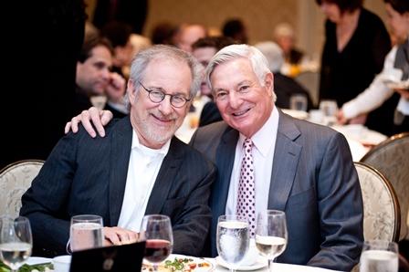 Steven Spielberg (left); and Bruce Ramer, Board of Councilors Member, USC Shoah Foundation Institute.