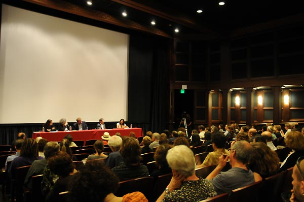 The panel attracted a diverse audience that included students, teachers, filmmakers, community members, survivors, and Visible Evidence Conference attendees.