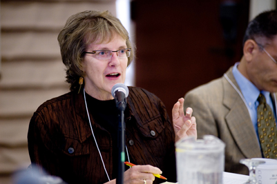 Carolyn Ellis, Professor of Communications and Sociology at the University of South Florida, was a moderator at the conference.