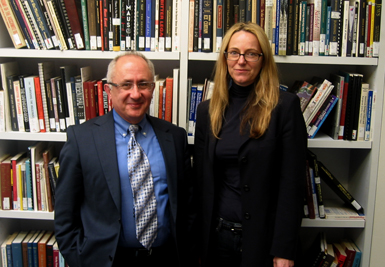 Dr. Taner Akçam (left), Associate Professor of History, and the Kaloosdian/Mugar Chair in Armenian Genocide Studies at Clark University's Center for Holocaust and Genocide Studies; and Karen Jungblut, USC Shoah Foundation Institute Director of Research and Documentation.