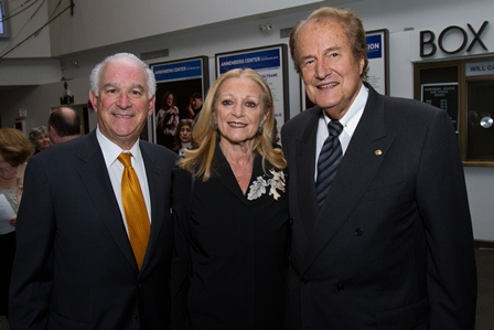 Stephen Cozen (left), a Penn alumnus and a member of the USC Shoah Foundation Institute's Board of Councilors, with Suzanne and Norman Cohn.