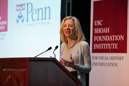 Amy Gutmann, President of the University of Pennsylvania.