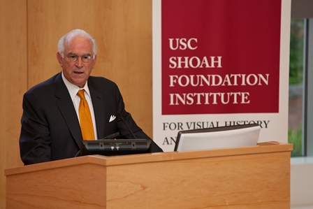 Stephen Cozen, a Penn alumnus and a member of the USC Shoah Foundation Institute Board of Councilors.