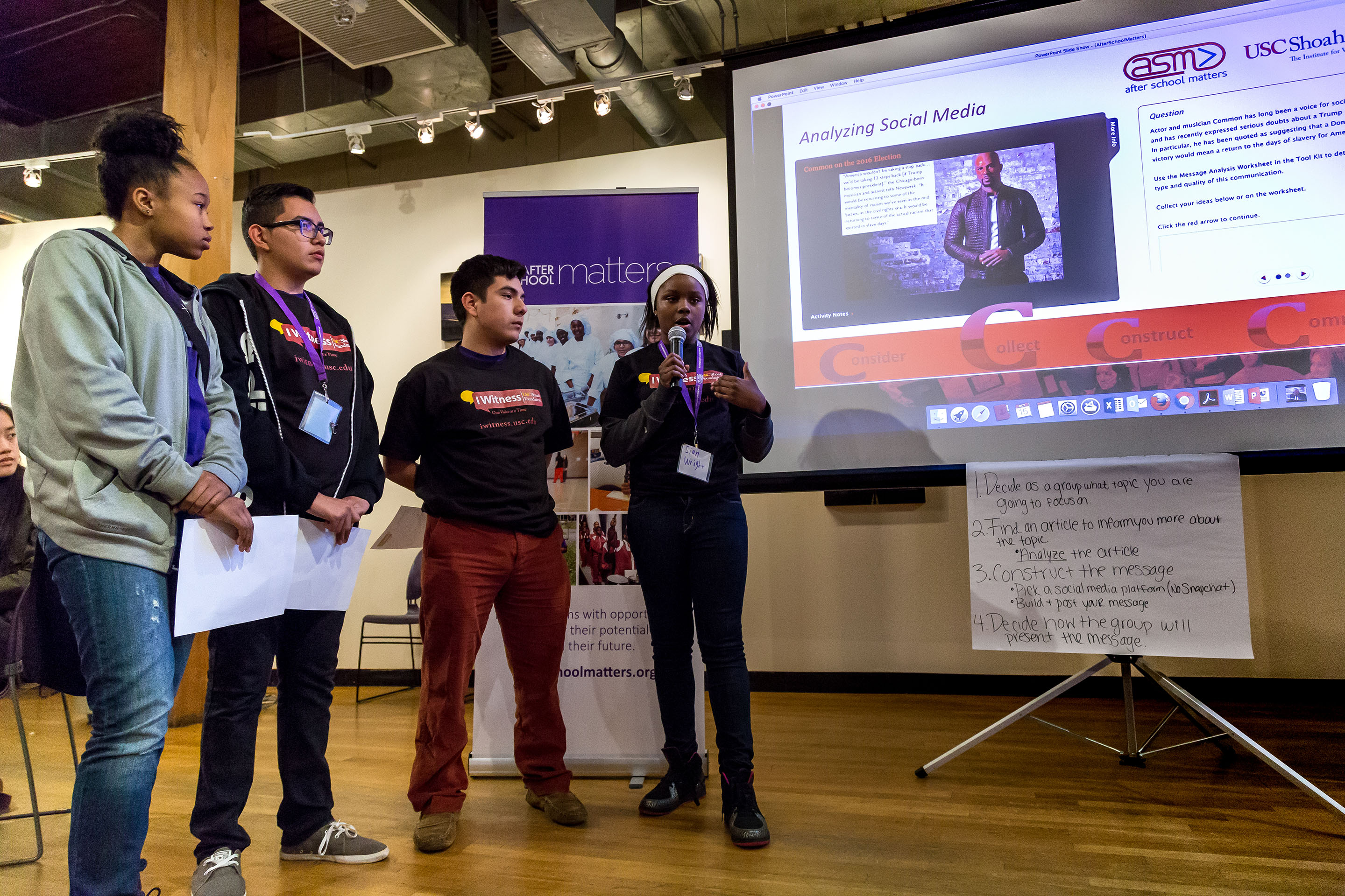 Students present to the group